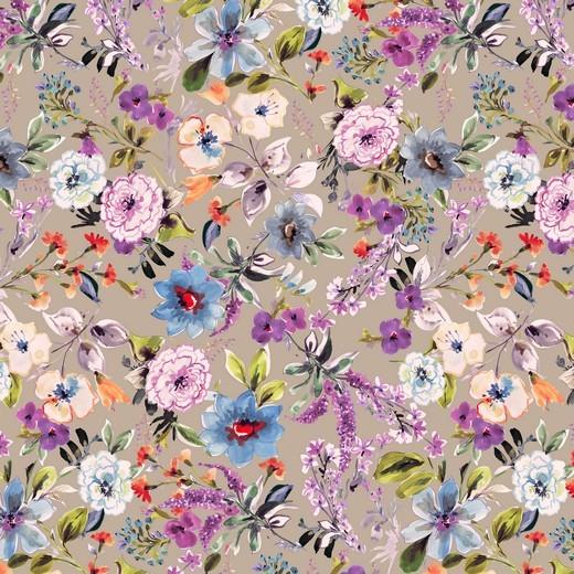 Blumengarten - beige - Viskose Jersey