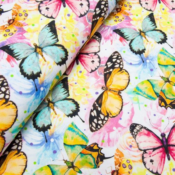 Schmetterlings Schwarm - Baumwolljersey