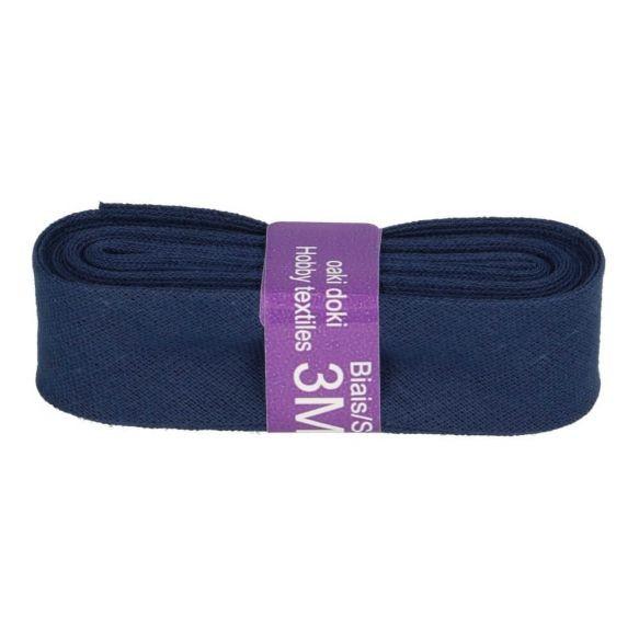 Baumwoll Einfassband - 12mm - jeansblau - 3m