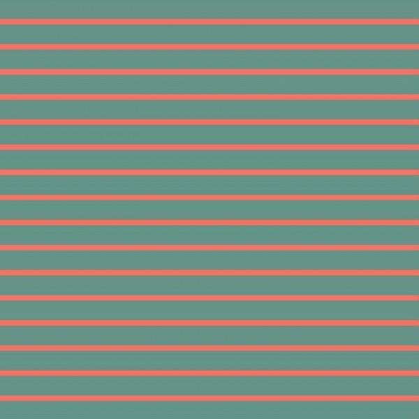 classic Stripes - grün-korall - French Terry
