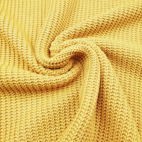 Big Knit - Strickstoff - ocker