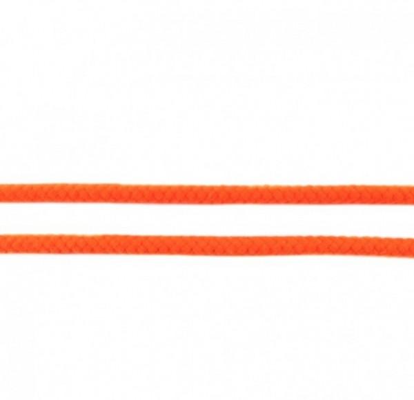 runde geflochtene Hoodiekordel - orange - 8mm -