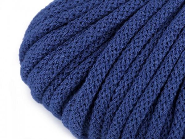 weiche Baumwollkordel - rund - kobaltblau - 5 mm