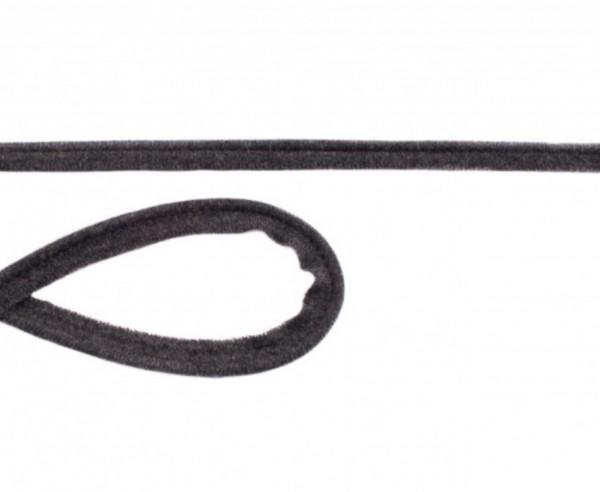 Jersey Paspel - 10mm - dunkelgrau meliert -