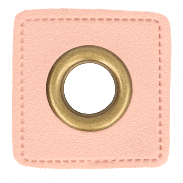 Ösenpatch - Viereck - 11mm - rosa-gold