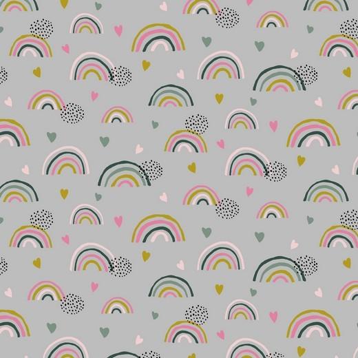 Regenbogen-Liebe - grau - BIO-BW-Jersey
