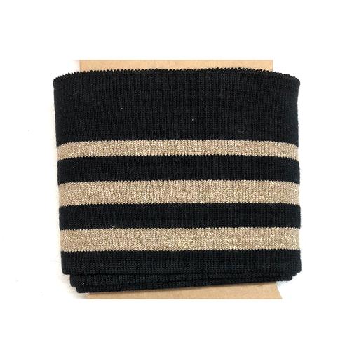 Cuff - Stripes Lurex - schwarz-gold