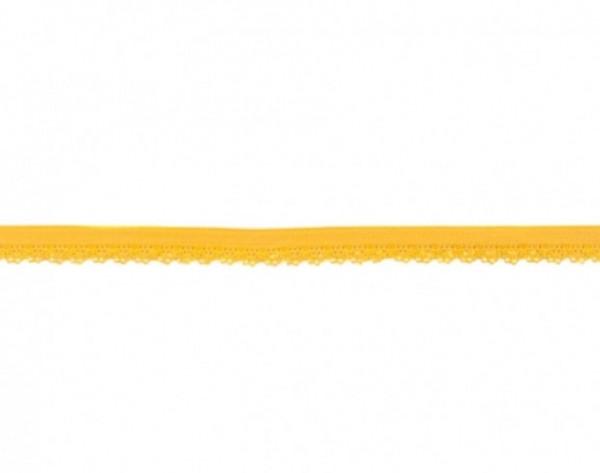 Elastische Spitze - 12mm - gelb -