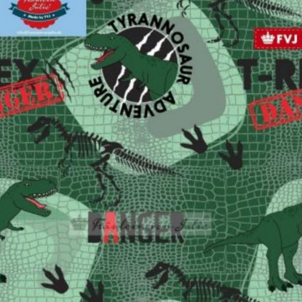 Fräulein von Julie - Tyrannosaur Adventure - grün - French Terry