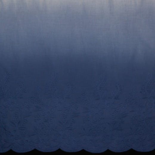 Bordürenstoff - blauer Farbverlauf - Webware