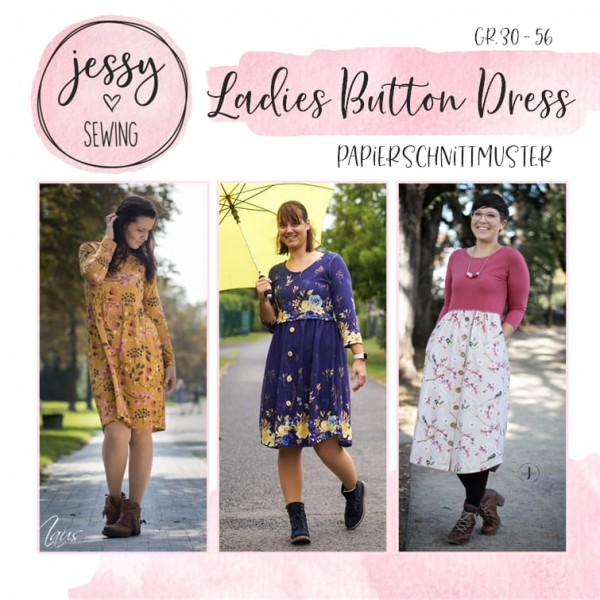 Papierschnittmuster - Jessy Sewing - Ladies Button Dress