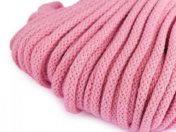 weiche Baumwollkordel - rund - rosa - 5 mm