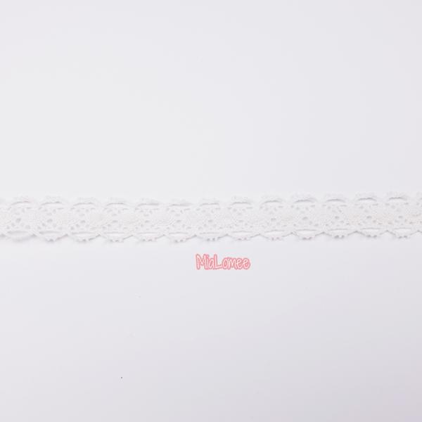 Klöppelspitze - weiß - 18mm