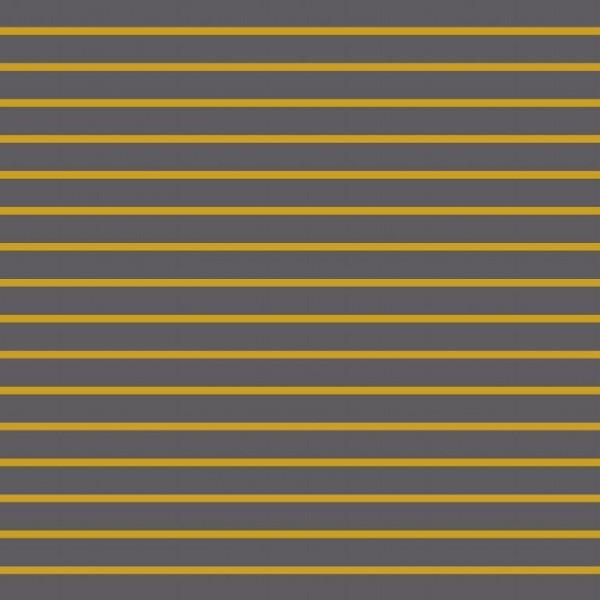 classic Stripes - grau-senf - French Terry