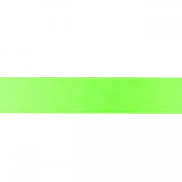 Zierband - neongrün - 25mm