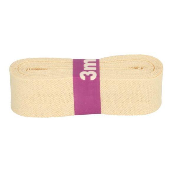 Baumwoll Einfassband - 12mm - vanille - 3m