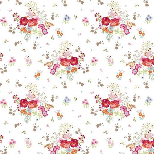 Gliiter Fields of Flowers - weiss - BW-Jersey