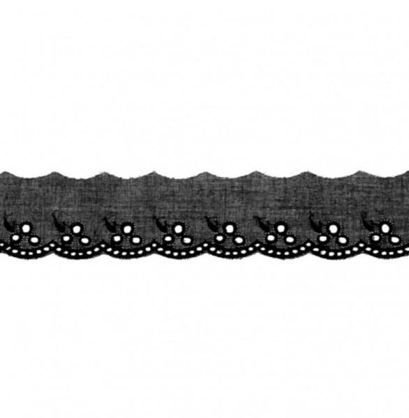 Wäschespitze - schwarz - 42 mm -