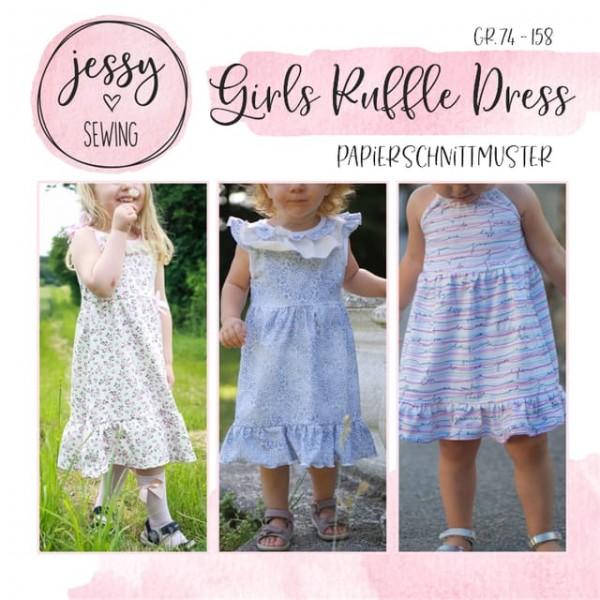 Papierschnittmuster - Jessy Sewing - Girls Ruffle Dress