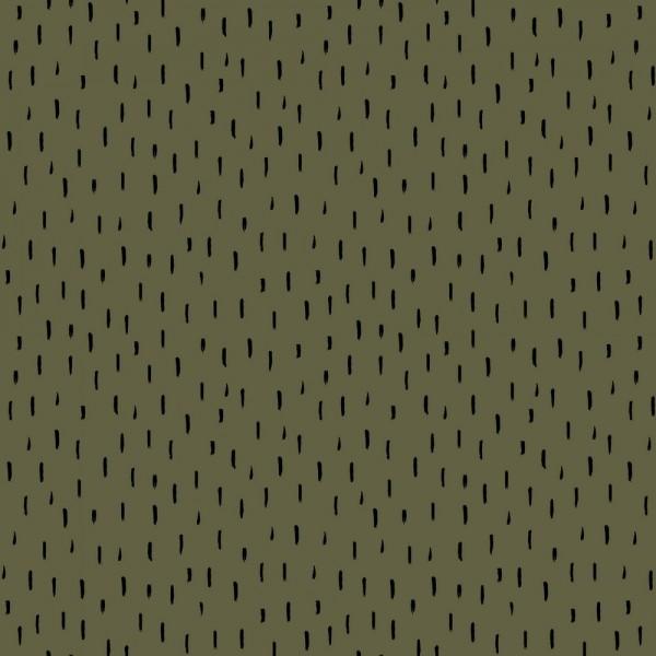 Kritzel Streifen - khaki - BW-Jersey BIO