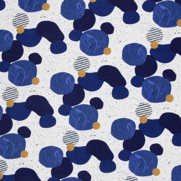 Swafing - Sarah - Kreise - blau - Viskose Jersey