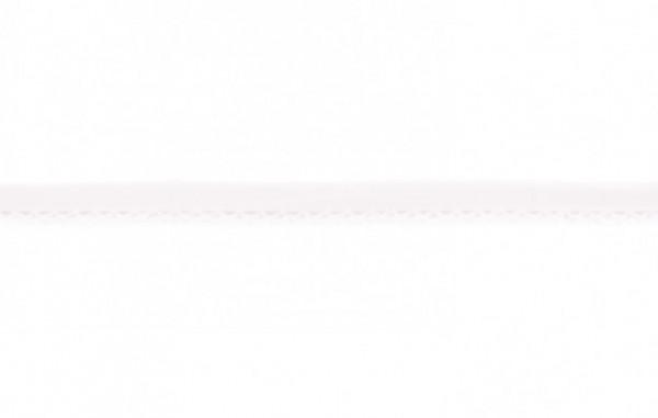 Popeline Einfassband mit Häkelborte - weiß -