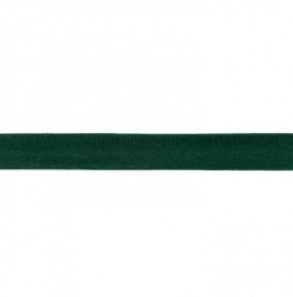 Baumwolljersey Einfassband - flaschengrün -